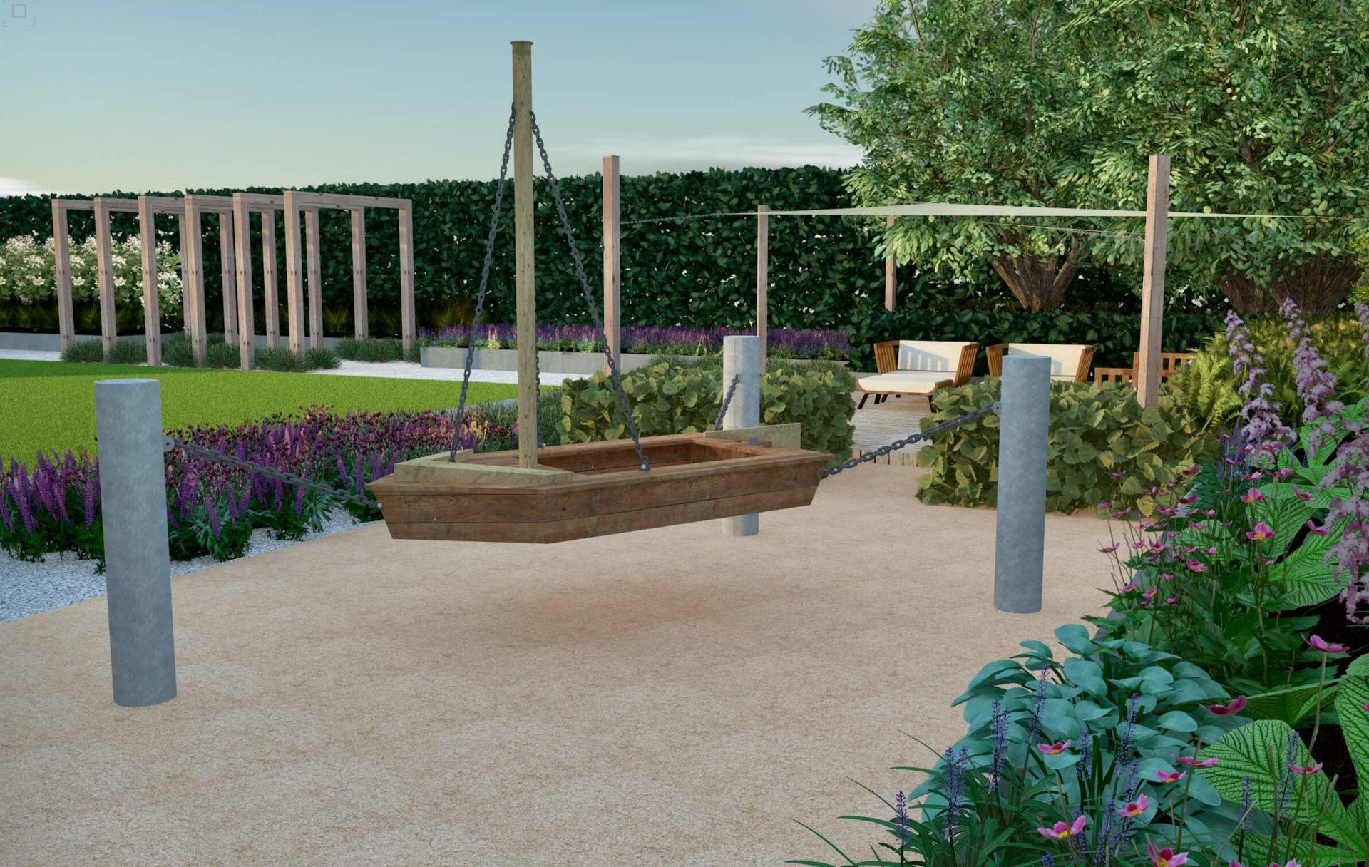 Plac zabaw wizualizacja, projekt ogrodu
