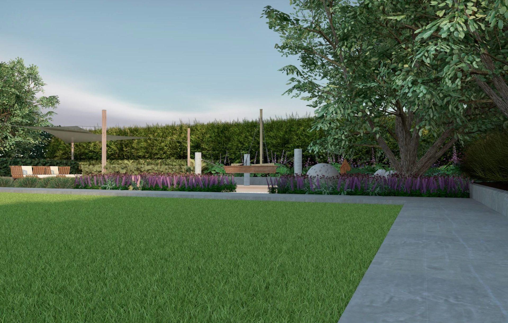 Ogród, projekt ogrodu wizualizacja