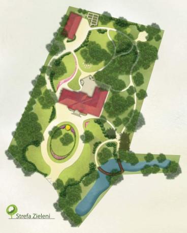 Park zabytkowy projekt, styl krajobrazowy