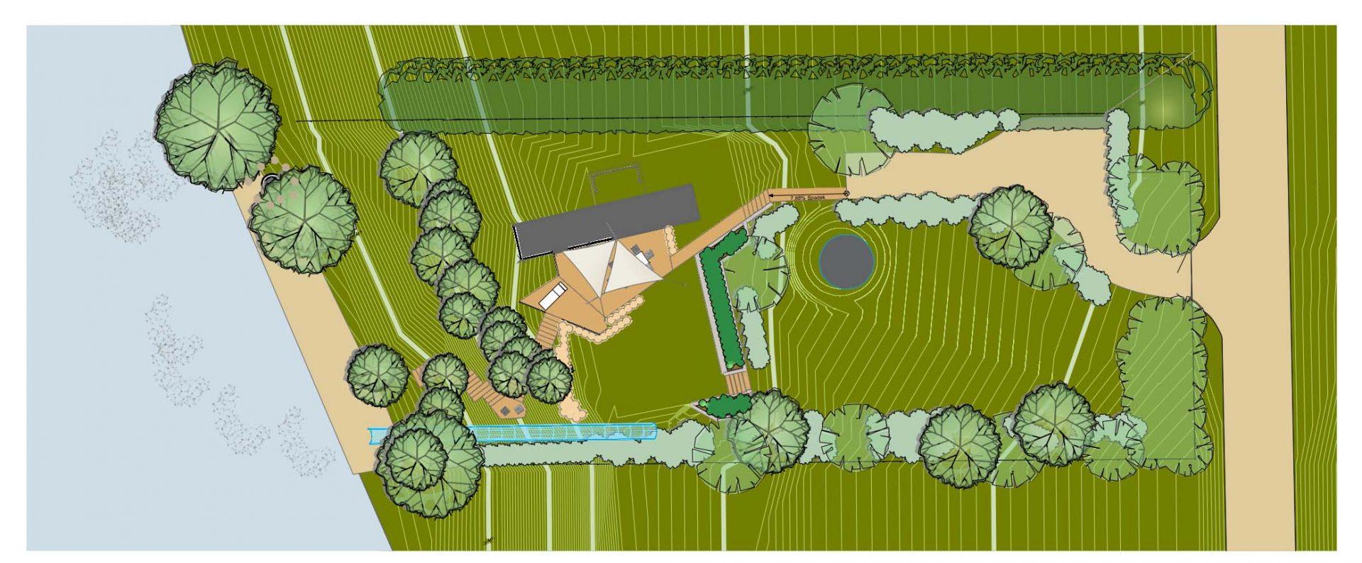 Ogród, projekt, ukształtowanie terenu