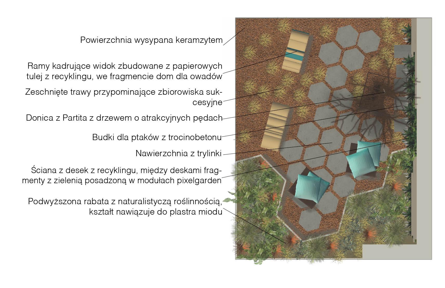 Projekt ogrodu pokazowego, gardenia, I miejsce, 2018