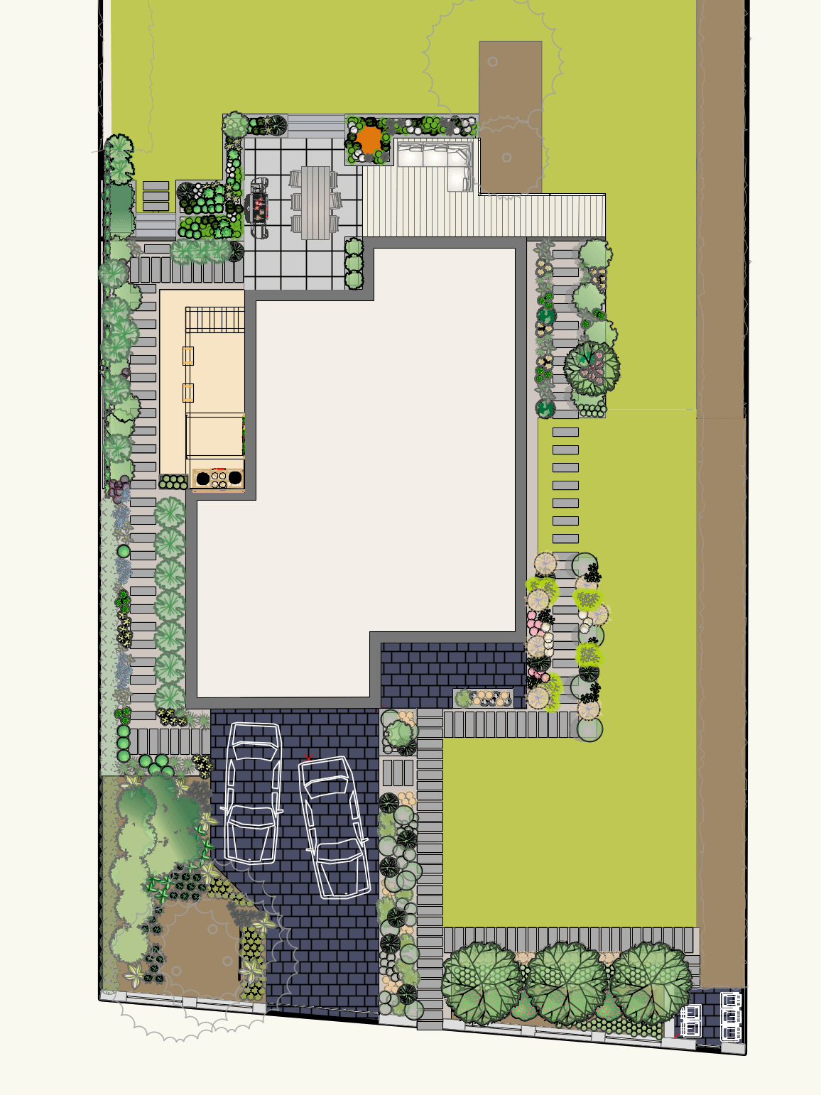 Projekt ogrodu rzut z góry